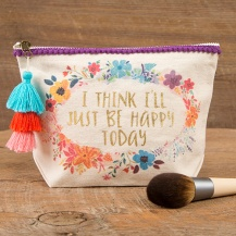 """199:- """"Happy Today"""" Canvas Pouch"""
