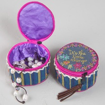 149:-it's the little things Jewelry Round Cute little zip around jewelry round is perfect for holding jewelry or your favorite little things!