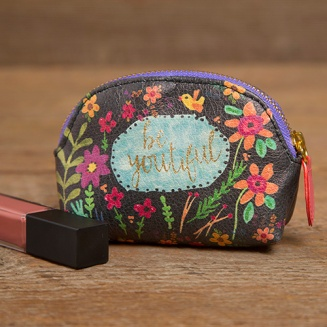 """149:-""""Be Youtiful"""" Vegan Mini Pouch The Vegan Leather Mini Pouch is the perfect purse essential! Capture all of your little things in one pouch and stay organized."""