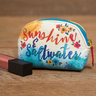 "149:-""Sunshine & Saltwater"" Vegan Mini Pouch The Vegan Leather Mini Pouch is the perfect purse essential! Capture all of your little things in one pouch and stay organized."