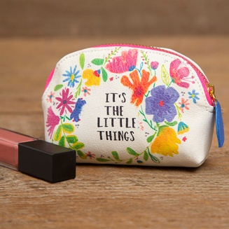 """149:-""""Little Things"""" Vegan Mini Pouch The Vegan Leather Mini Pouch is the perfect purse essential! Capture all of your little things in one pouch and stay organized."""