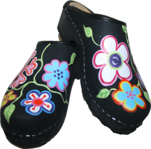 Black Oil Christy Clogs