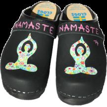 Black Oil Namaste Clogs
