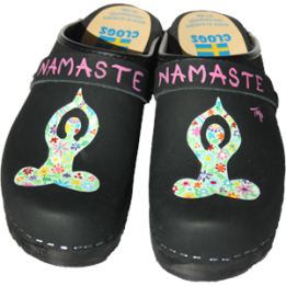 Black Oil Namaste Clogs