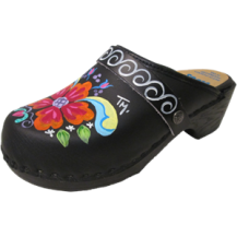 Black Oil Petra Soft Clogs