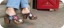Brown Oil Annica High Heel Clogs