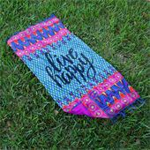 Beach Towels Live Happy Can be worn as sarong or used as towel and/or blanket. 100% cotton blanket 599.-