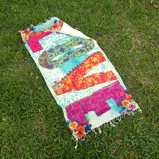 """Love"" Beach Towel Blanket Can be worn as sarong or used as towel and/or blanket. 100% cotton blanket 599:-"