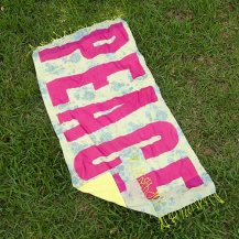 """Peace"" Beach Towel Blanket Use as a towel or blanket. 100% cotton 599:-"