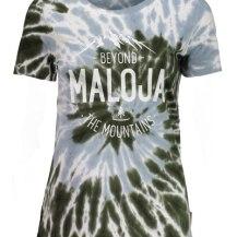 349:- FÖRCHENSEEM. Wood Maloja WomanSimple t-shirt with special print Details: - round neckline - allover batik print - front print 100% cotton size: S M & L pris:
