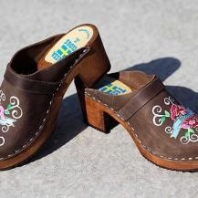 Brown oil High Heel Peace& Hope Clogs