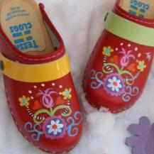Red Elna Clogs