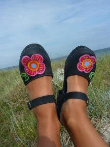 Black oil High Heel Moa Lundin Clogs