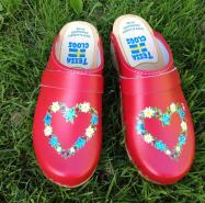 Red Heart Clogs