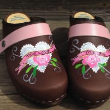 Brown Oil True Love Clogs