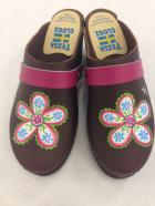 Brown Oil Greta Clogs