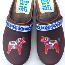 Brown Oil Dala Clogs