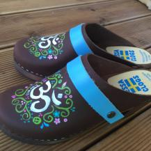 Brown Oil AUM Clogs