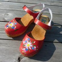 Red High Heel Moa Gullberg Clogs