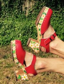 Summer 2017 Red High Heel Clogs