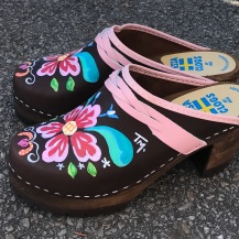 Brown Oil Petra High Heel Mountain Clogs