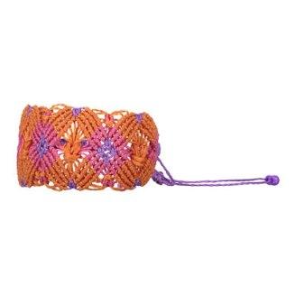75:- (149:-) HAIDBERGM Maloja Woman Handcrafted bracelet made from Macramé Campfire