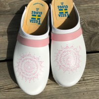 White & Pink Mandala Clogs