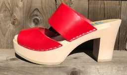 Red Tessa Ultimate High Clogs