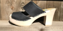 Black Oil Tessa Ultimate High Clogs