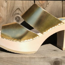 Gold Tessa Ultimate High Clogs