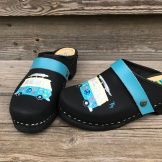 Black oil Volkabuss Clogs