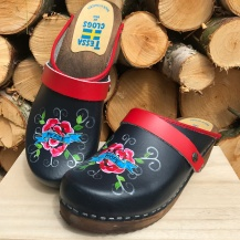 Blue Peace&Hope Clogs