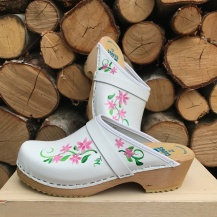 White Axelina Clogs