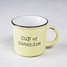 Cup of Sunshine Camp Mug Dishwasher and microwave safe. Ceramic 150:-