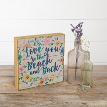 249:-Love You Beach & Back Bungalow Box Sign Can sit or hang.Wood