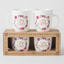 """150:- (300:-) """"Cup of Happy"""" Ceramic Mug Set.ceramic"""