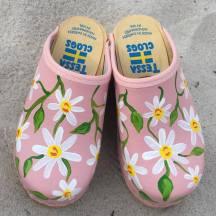 Pink Daisy Clogs
