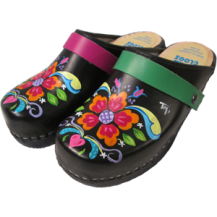 Black oil Petra Clogs