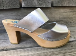 Silver Tessa Ultimate High Clogs