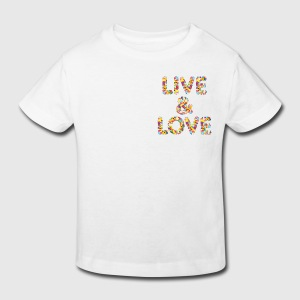 349:- Kids Tee Live&Love size: 98/104, 110/116, 122/128 & 134/140 (front)