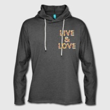 599:- LIVE&LOVE Hoodie 60 % cotton 40 % polyestersize: S, M & L (front)