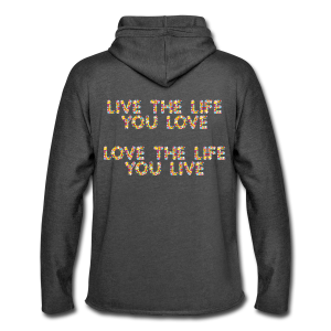 599:- LIVE&LOVE Hoodie size: S, M & L (back)