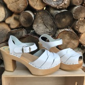 White Mimmi Ultimate High clogs