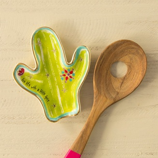 179:-Live Life with Spice Cactus Spoon Rest