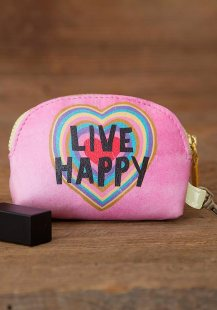 149:-Live Happy Vegan Mini Pouch