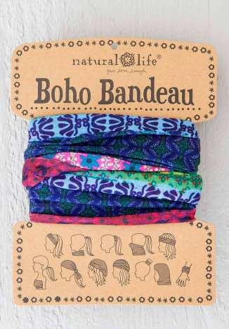 129:-Mixed Print Boho Bandeau