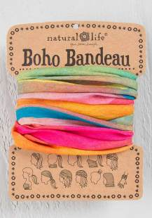 129:-Hot Pink Rainbow Boho Bandeau