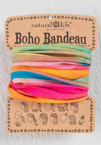 129:-Hot Pink Rainbow Boho Bandeau