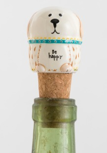 125:-Dog Be Happy Bottle Stopper