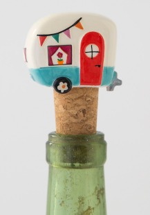 125:-Be Happy Camper Bottle Stopper